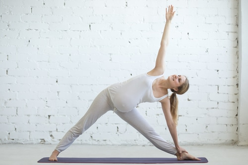 Triangle Pose - Relieve Back Pain During Pregnancy